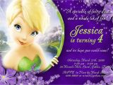 Tinkerbell Invitation Cards for Birthdays Tinkerbell Personalized Birthday Invitations by
