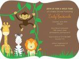 Tiny Prints Baby Shower Invites Baby Shower Invites Jungle theme Tiny Prints Custom