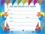 Toddler Birthday Party Invitations Birthday Party Invitations for Kids