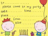 Toddler Birthday Party Invitations Free Birthday Party Invites for Kids Bagvania Free