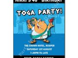 Toga Party Invitation Roman or Greek themed Party Invitations the Invitation