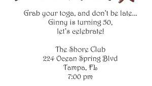 Toga Party Invitation toga Party Invitation L Pj Greetings