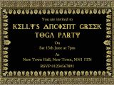 Toga Party Invitations Wording toga Party Invitations