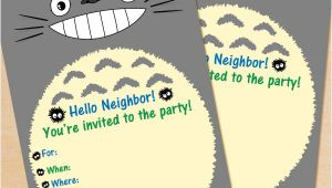 Totoro Party Invitations Free Printable My Neighbor totoro Birthday Invitation