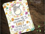 Totoro Party Invitations totoro Birthday Invitation Card Printable Invitation