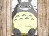 Totoro Party Invitations totoro Birthday Party Invitation Blue totoro Party Invite