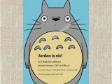 Totoro Party Invitations totoro Invite Party Party Pinterest totoro and Birthdays
