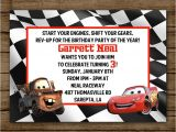 Tow Mater Birthday Invitations Cars Birthday Party Invitation Lightening Mcqueen by