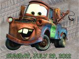 Tow Mater Birthday Invitations Personalized Cars tow Mater Birthday Invitation Digital