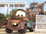 Tow Mater Birthday Invitations tow Mater Invitations