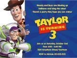 Toy Story Customized Birthday Invitations Free Personalized toy Story Birthday Invitations Template