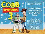 Toy Story Customized Birthday Invitations toy Story Buzz & Woody Birthday Invitation Design by