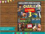 Toy Story Customized Birthday Invitations toy Story Chalkboard Birthday Party Invitations