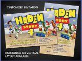 Toy Story Customized Birthday Invitations toy Story Inspired Custom Birthday Invitations