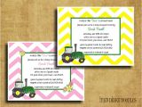 Tractor Baby Shower Invitations Green Tractor Baby Shower Invitation Perfect for John Deere