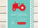 Tractor Baby Shower Invitations Items Similar to Tractor Baby Shower Invitation Baby