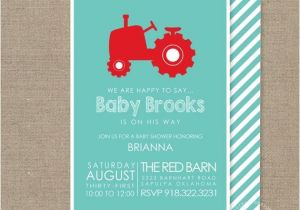 Tractor Baby Shower Invitations Tractor Baby Shower Invitation Baby Shower by