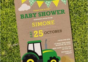 Tractor Baby Shower Invitations Vintage John Deere Tractor Baby Shower by Sunshineparties