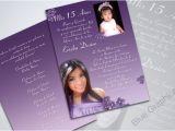 Traditional Quinceanera Invitations Custom Photo Quinceanera Invitation 2 Pictures