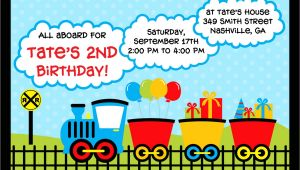 Train Party Invitations Templates Train Birthday Invitations Template