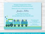 Train themed Baby Shower Invitations Cute Choo Choo Train Baby Shower Invitation Train Baby