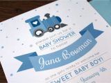 Train themed Baby Shower Invitations Train themed Baby Shower Invitations by Dottedanddashed On