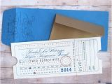 Train Ticket Wedding Invitations Punch Card Ticket Train Depot Union Station Railroad Travel
