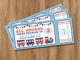 Train Tickets Birthday Invitations Choo Choo Train Ticket Birthday Party Invitation Digital