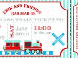 Train Tickets Birthday Invitations Items Similar to Train Ticket Birthday Party Invitation