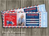 Train Tickets Birthday Invitations Printable Train Ticket Birthday Invitation