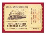Train Tickets Birthday Invitations Train Ticket Invitations