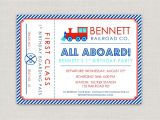 Train Tickets Birthday Invitations Train Tickets Birthday Invitations