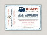 Train Tickets Birthday Invitations Vintage Train Ticket Birthday Party Invitation by