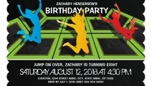 Trampoline Birthday Party Invitation Template Trampoline Park Kids Birthday Party Invitation Zazzle Com