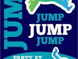 Trampoline Birthday Party Invitations Free Small Moments Trampoline themed Invitation