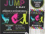 Trampoline Birthday Party Invitations Free Trampoline Birthday Party Invitation Personalized D7