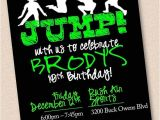 Trampoline Park Birthday Invitations Jump Trampoline Park Birthday Party Invitation Digital Design