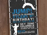 Trampoline Park Birthday Invitations Jump Trampoline Park Birthday Party Invitation