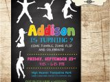 Trampoline Park Birthday Invitations Trampoline Park Birthday Invitation 5 X 7 Digital File