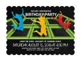 Trampoline Park Birthday Invitations Trampoline Park Kids Birthday Party Card