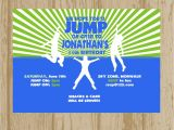 Trampoline Park Birthday Invitations Trampoline Park Party Invitation Printable by