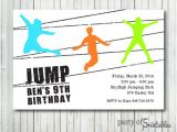 Trampoline Park Birthday Invitations Trampoline Party Invitation Trampoline Park Jump Jumping Party