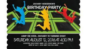 Trampoline Park Birthday Party Invitations Trampoline Park Kids Birthday Party Kids 2 12 Birthday