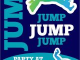 Trampoline Party Invitations Free Small Moments Trampoline themed Invitation
