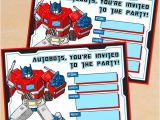Transformer Birthday Invitations Free Printable G1 Transformers Birthday Invitation