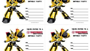 Transformer Birthday Invitations Printable Free Transformers Birthday Invitations Free Printable