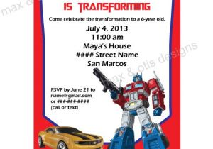 Transformer Birthday Invitations Templates Items Similar to Transformers theme Printable Invitation