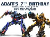 Transformer Birthday Invitations Templates Transformer Birthday Invitations Bagvania Free Printable