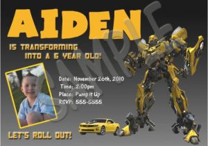 Transformer Birthday Invitations Templates Transformer Invitation to Print orderecigsjuice Info