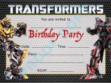 Transformer Birthday Invitations Templates Transformers Megatron Kids Children Birthday Party